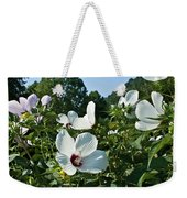 Hollyhock At Sunrise Weekender Tote Bag