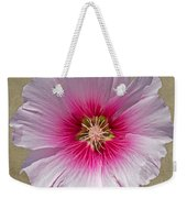 Hollyhock On Linen 2 Weekender Tote Bag