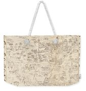 Hollywood Map To The Stars 1937 Weekender Tote Bag
