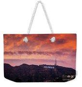 Hollywood Sign At Sunset Weekender Tote Bag