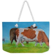 Holstein Friesian Cow And Brown Cow Weekender Tote Bag