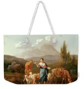 Holy Family At A Stream Weekender Tote Bag
