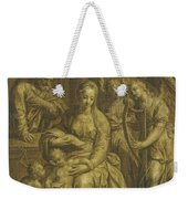 Holy Family With Angels Weekender Tote Bag
