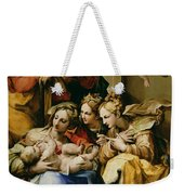 Holy Family With Saint Anne Catherine Of Alexandria And Mary Magdalene Weekender Tote Bag