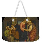 Holy Family With Saints John Elisabeth And Zacharias Weekender Tote Bag