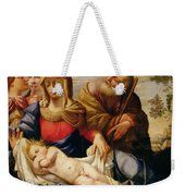 Holy Family With Two Female Figures Weekender Tote Bag