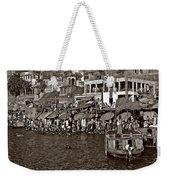 Holy Ganges Monochrome Weekender Tote Bag