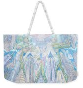Homage To New York And The Chrysler Building Weekender Tote Bag