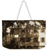 Mcleod Plantation Home In Black And White Weekender Tote Bag