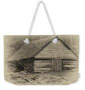 Home In The Woods Sepia Weekender Tote Bag