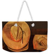 Home Is Where Ya Hang Yer Hat Weekender Tote Bag