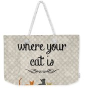 Home Is Where Your Cat Is-jp3040 Weekender Tote Bag