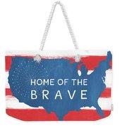 Home Of The Brave Weekender Tote Bag by Linda Woods