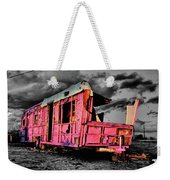 Home Pink Home Black And White Weekender Tote Bag