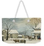 Home To Home To Thanksgiving, 1867 Weekender Tote Bag