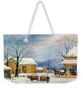 Home To Thanksgiving, 1867 Weekender Tote Bag