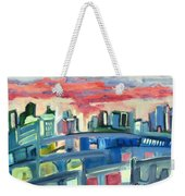 Home To The Softer Side Of City Weekender Tote Bag