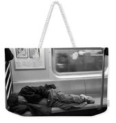 Homeless In Motion In Black And White Weekender Tote Bag