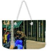 Homeless In Nyc Weekender Tote Bag