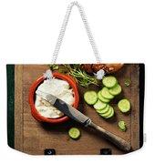 Homemade Bread Loaf And Fresh Ingredients For Making Vegetarian  Weekender Tote Bag