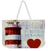Hometown Bahamas Lighthouse Weekender Tote Bag