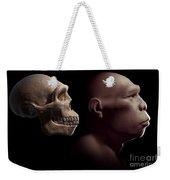 Homo Erectus With Skull Weekender Tote Bag