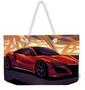 Honda Acura Nsx 2016 Mixed Media Weekender Tote Bag