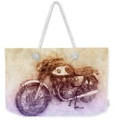 Honda Cb77 - Honda Motorcycles 2 - Motorcycle Poster - Automotive Art Weekender Tote Bag