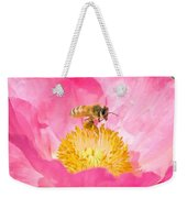 Honey Bee Collecting Pollen Weekender Tote Bag