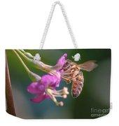 Honey Bee On Goji Berry Flower Weekender Tote Bag