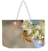 Honey Bee On Herb Flowers Weekender Tote Bag