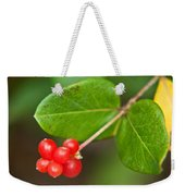 Honey Suckle Berry Seeds Weekender Tote Bag
