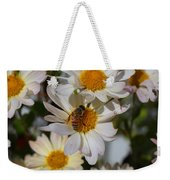 Honeybee And Daisy Mums Weekender Tote Bag