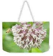 Honeybee And Milkweed Flowers Weekender Tote Bag