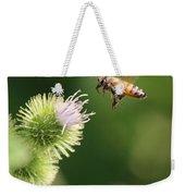 Honeybee Flying To Thistle  Weekender Tote Bag