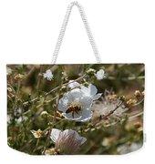Honeybee Gathering From A White Flower Weekender Tote Bag