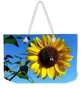 Honeybee On A Sunflower Weekender Tote Bag