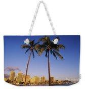 Honolulu And Palms Weekender Tote Bag