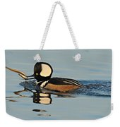 Hooded Merganser And Eel Weekender Tote Bag