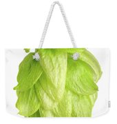 Hop Flower Seed Cone On White Background Weekender Tote Bag