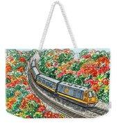 Hop On A Train Weekender Tote Bag