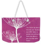 Hope And Future Weekender Tote Bag