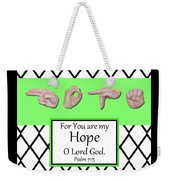 Hope - Bw Graphic Weekender Tote Bag