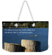 Hope For A Tree Weekender Tote Bag by James Eddy