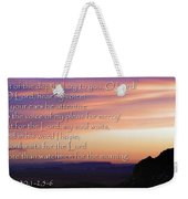 Hope For Morning Weekender Tote Bag
