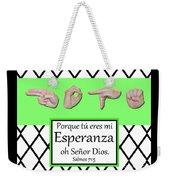 Hope Spanish - Bw Graphic Weekender Tote Bag