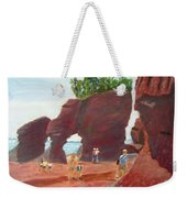 Hopewell Rocks2 Weekender Tote Bag by Linda Feinberg