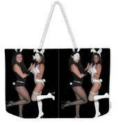 Hoppy Easter - Gently Cross Your Eyes And Focus On The Middle Image Weekender Tote Bag
