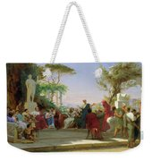 Horatius Reading His Satires To Maecenas Weekender Tote Bag by Fedor Andreevich Bronnikov