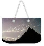 Horizonal Lightning Poster Weekender Tote Bag